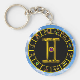 GEMINI BASIC ROUND BUTTON KEY RING