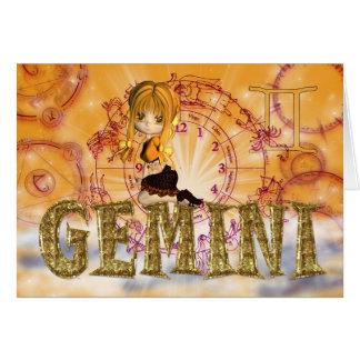 Gemini Birthday Card cute