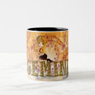 Gemini Birthday Mug with moonies cutie pie