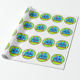 Gemini Cartoon Zodiac Astrology design Wrapping Paper