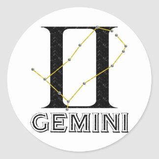 Gemini Classic Round Sticker