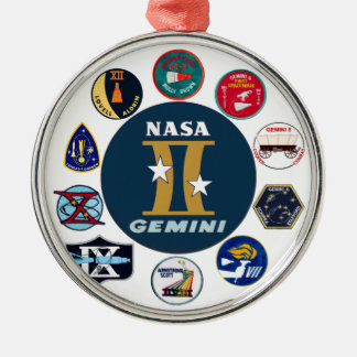 Gemini Commemorative Logo Silver-Colored Round Decoration