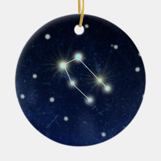 Gemini Constellation | Custom Name Round Ceramic Decoration