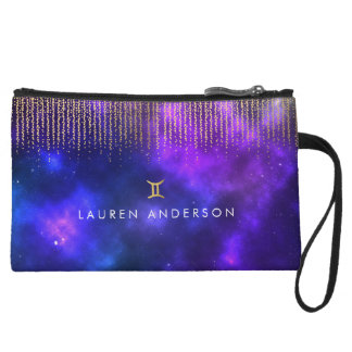 Gemini Custom Name Zodiac Cosmetic Bag