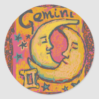 Gemini, Customizable Astrology Products Classic Round Sticker