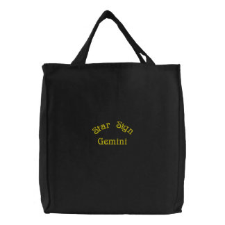 GEMINI EMBROIDERED TOTE BAG