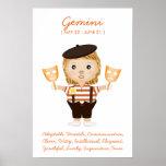 Gemini - Girl Horoscope Poster