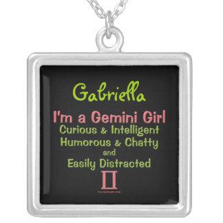 Gemini Girl Personalized Zodiac Necklace