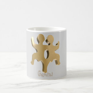 Gemini golden sign coffee mug