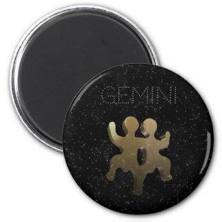 Gemini golden sign magnet