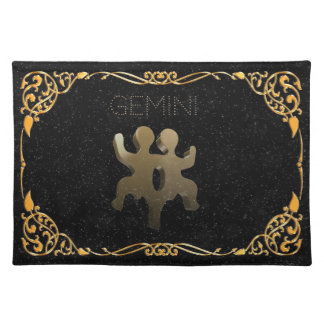 Gemini golden sign placemat