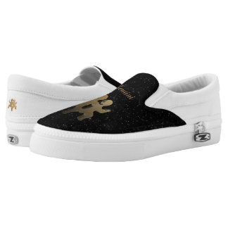 Gemini golden sign printed shoes