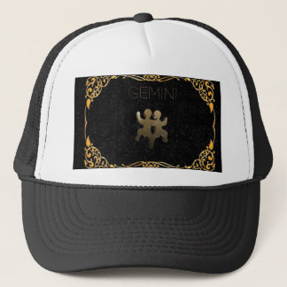 Gemini golden sign trucker hat