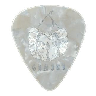 Gemini Guitar Pick. Pearl Celluloid Guitar Pick