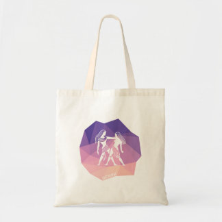 Gemini horoscope sign modern tote bag.
