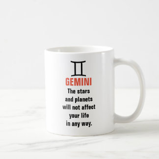 Gemini Horoscope - The stars and planets will not Coffee Mug