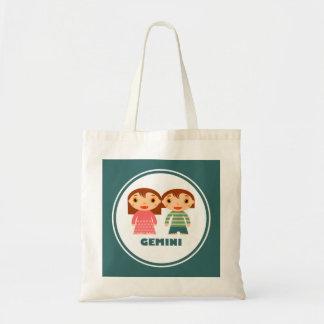 Gemini is my Zodiac Sign Canvas Bags