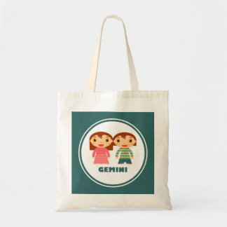 Gemini is my Zodiac Sign Canvas Bags