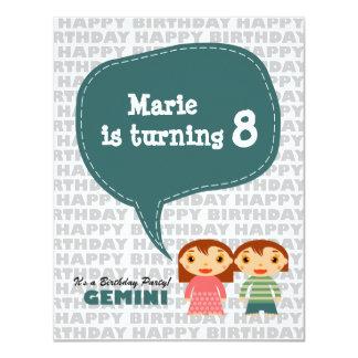 Gemini Kids Party Invitation