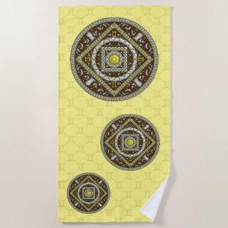 Gemini Mandala Beach Towel
