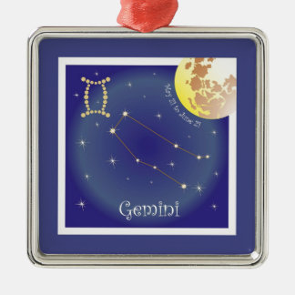 Gemini May 21 tons of June 21 ornamentation Christmas Ornament