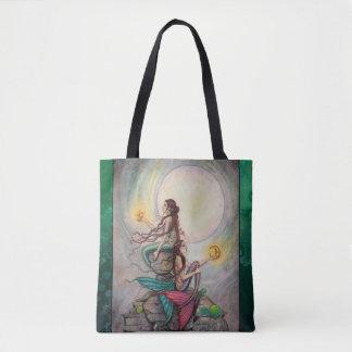 Gemini Mermaids Fantasy Art by Molly Harrison Tote Bag