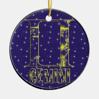 GEMINI ORNAMENT+gifts Christmas Ornament