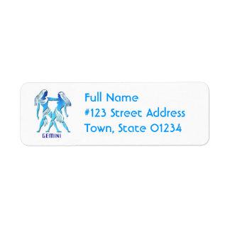 Gemini Return Address Mailing Label Return Address Label