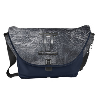 Gemini Sign in Distressed Siver Steel Style Commuter Bags