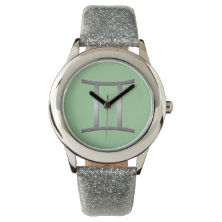gemini - silver wristwatch