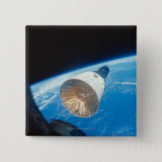 Gemini Space Capsule 15 Cm Square Badge
