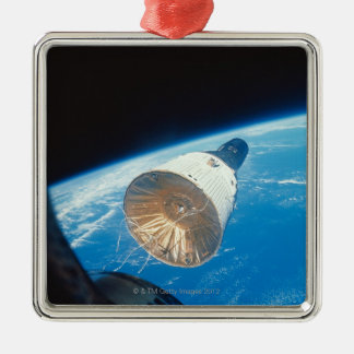 Gemini Space Capsule Silver-Colored Square Decoration