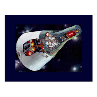 Gemini Spacecraft Cut-out Postcard