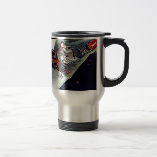 Gemini Spacecraft Cut-out Stainless Steel Travel Mug