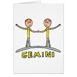 Gemini Star Sign Card