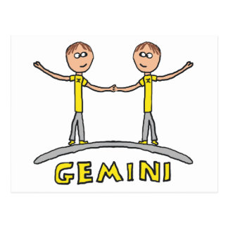 Gemini Star Sign Postcard