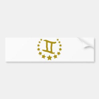 Gemini-Stars-Crown-.png Bumper Sticker