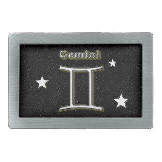Gemini symbol belt buckles