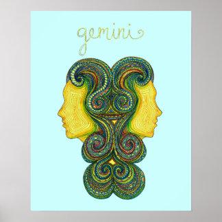 Gemini Symbol Poster