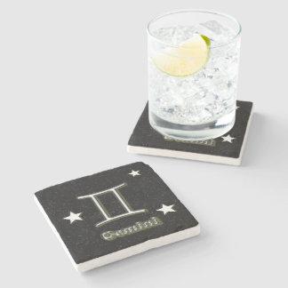 Gemini symbol stone coaster