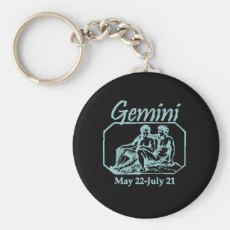 Gemini Teal Basic Round Button Key Ring