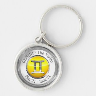 Gemini - The Twins Astrological Sign Key Ring