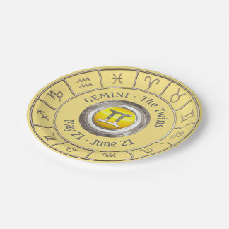 Gemini - The Twins Astrological Sign Paper Plate