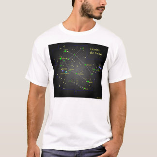 Gemini the Twins Constellation T-Shirt