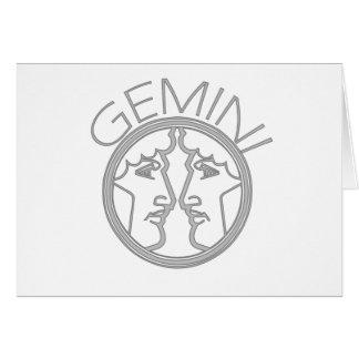 Gemini the Twins Greeting Card