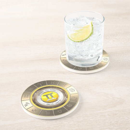 GEMINI - The Twins Horoscope Symbol Coaster