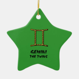 Gemini the twins ornament