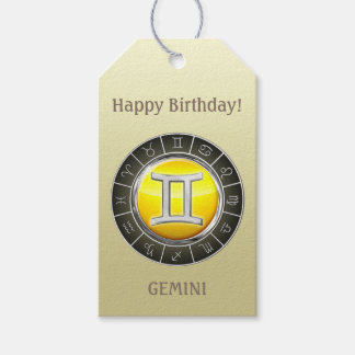 Gemini - The Twins Zodiac Sign Gift Tags