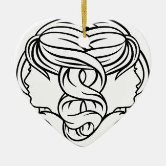 Gemini Twins Astrology Horoscope Zodiac Sign Christmas Ornament