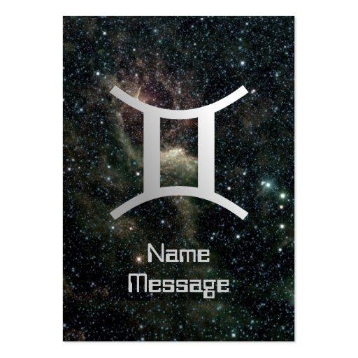 Gemini Twins Zodiac Star Sign Universe Business Cards